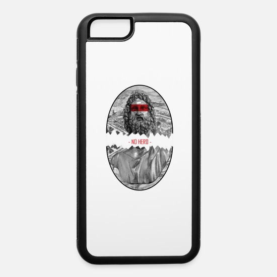 Greek iPhone Cases - NO HERO - iPhone 6 Case white/black