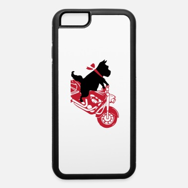 Bday Dog on motorcycle chopper dog lover gift - iPhone 6 Case