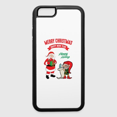 Christmas Xmas Elf Elves Santa Claus Nicholas - iPhone 6/6s Rubber Case