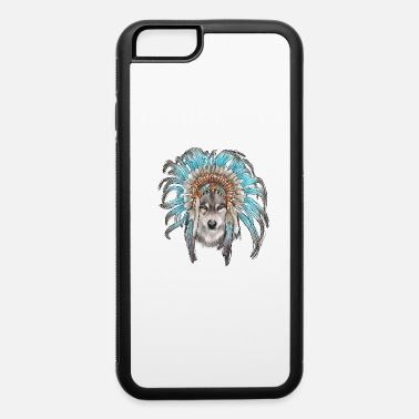 Headdress Wolf and Headdress - iPhone 6 Case