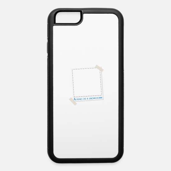 Dark iPhone Cases - Funny Albino In A Snowstorm - iPhone 6 Case white/black