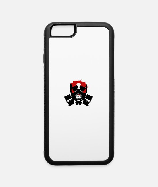 Skull And Crossbones iPhone Cases - Skull TOXIC - iPhone 6 Case white/black
