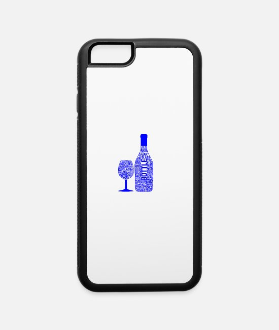 Beers iPhone Cases - GIFT - BEER BOTTLE BLUE - iPhone 6 Case white/black