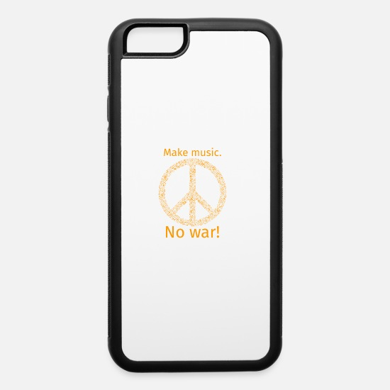 Music iPhone Cases - Make music no war - iPhone 6 Case white/black