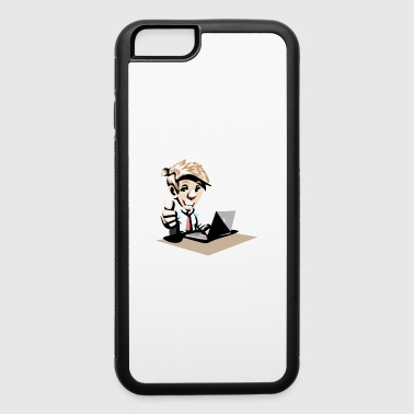 Mann am PC - iPhone 6/6s Rubber Case