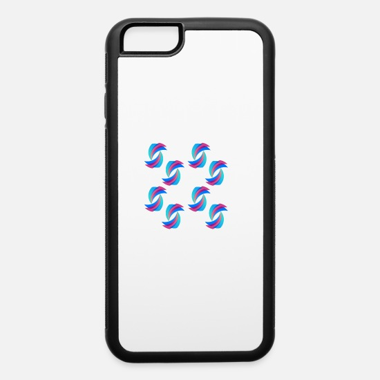 Birthday iPhone Cases - pink-blue color spiral - iPhone 6 Case white/black