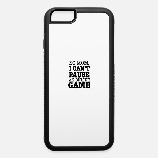 Animal iPhone Cases - Can't Pause My Game - iPhone 6 Case white/black