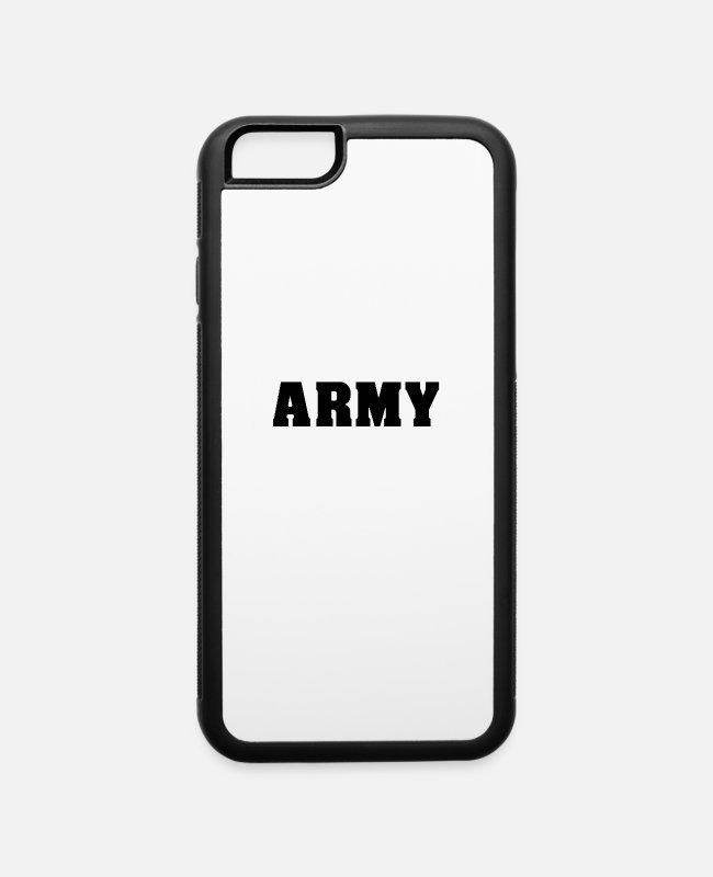 Army iPhone Cases - ARMY army athlete muscle man gym - iPhone 6 Case white/black