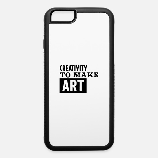 Makeup iPhone Cases - Creativity to make art - iPhone 6 Case white/black