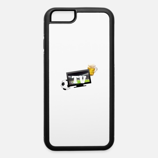 Tv iPhone Cases - Soccer TV Beer Television Couch Friend Sofa Gift - iPhone 6 Case white/black