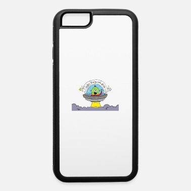 Name Hand drawn green alien with rocket saying hello - iPhone 6 Case