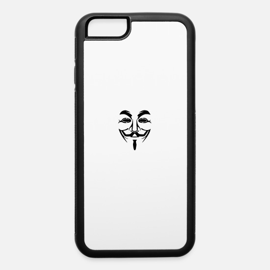 Anonymous iPhone Cases - Anonymous - iPhone 6 Case white/black