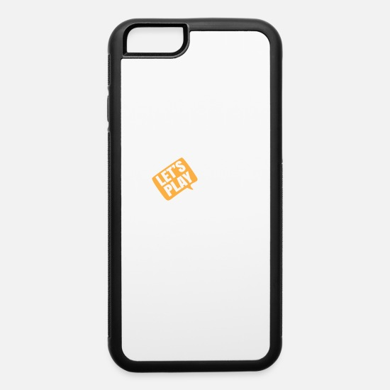 Play iPhone Cases - Lets Play - iPhone 6 Case white/black
