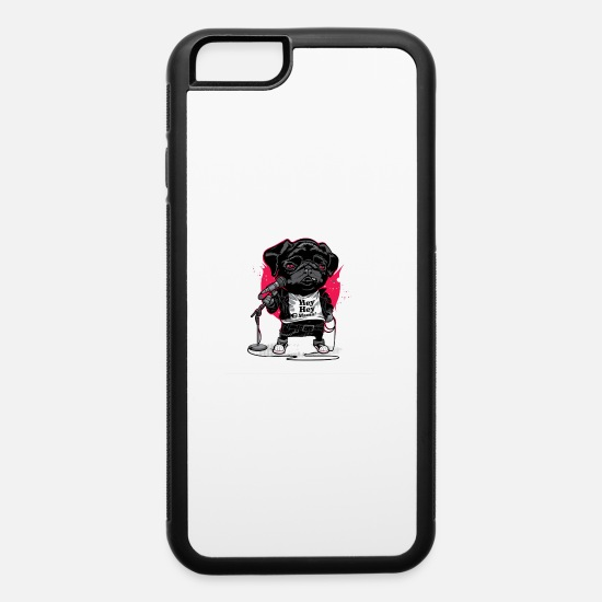 Pug iPhone Cases - Dog - iPhone 6 Case white/black