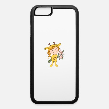 With Full Force Lovely Girl In A Giraffe Costume With A Bouquet Of - iPhone 6 Case