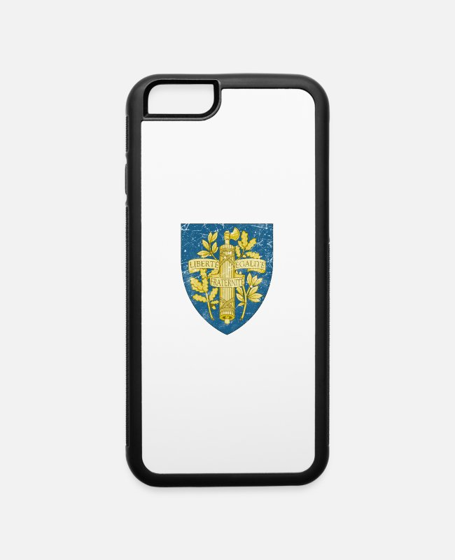 Bonaparte iPhone Cases - France Vintage Coat Of Arms - iPhone 6 Case white/black