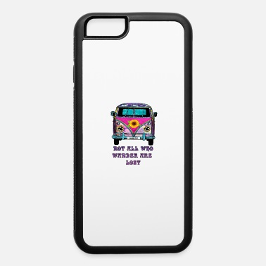 70s Flower Child Van Not All Who Wander Are Lost - iPhone 6 Case