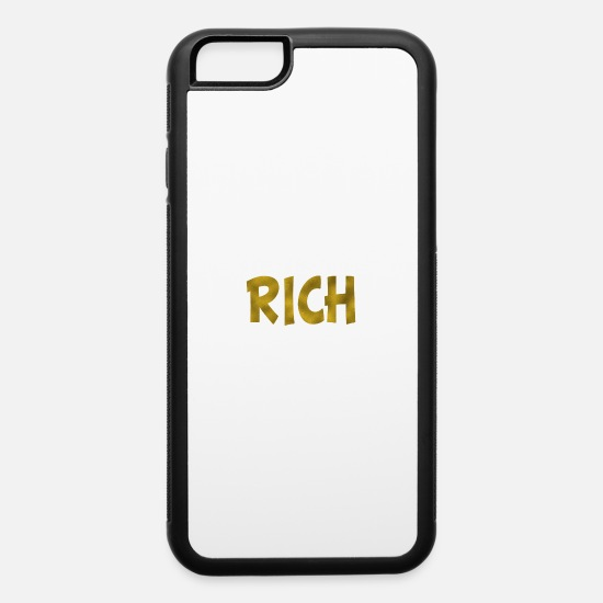 Gold iPhone Cases - Rich Gold - iPhone 6 Case white/black