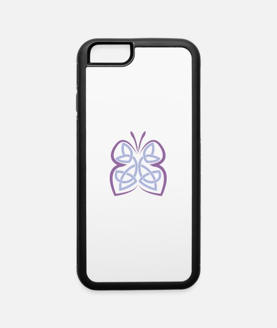 Triquetra iPhone Cases - Celtic Symbol Butterfly Celtic Knot Gift Idea - iPhone 6 Case white/black