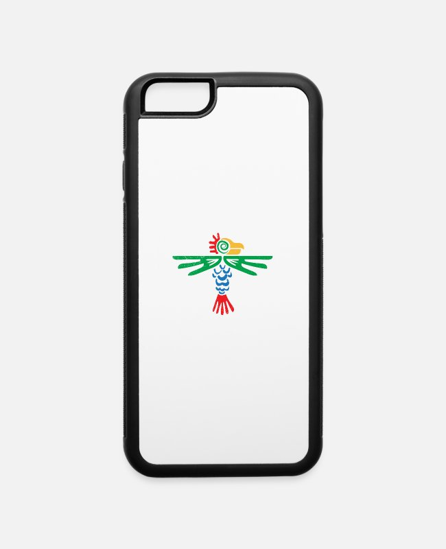 Civilization iPhone Cases - Aztec Symbol Eagle Tribal Design Gift Idea - iPhone 6 Case white/black