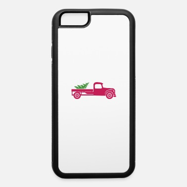 New Years Day Merry Christmas Santa Truck & Tree - iPhone 6 Case