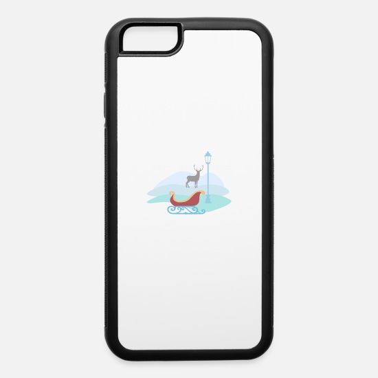 Snowman iPhone Cases - Snow scene - iPhone 6 Case white/black