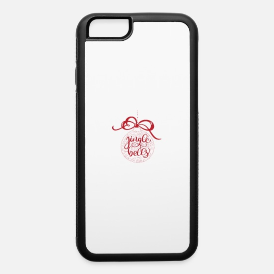 Red Deer iPhone Cases - Jingle Bells Red Vintage - iPhone 6 Case white/black