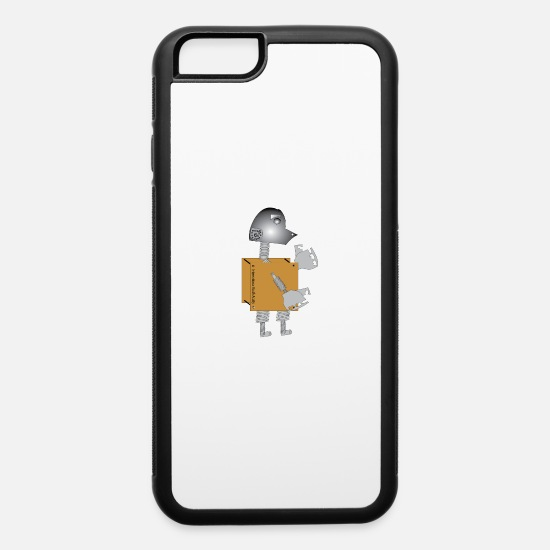 Over iPhone Cases - Robot5 - iPhone 6 Case white/black