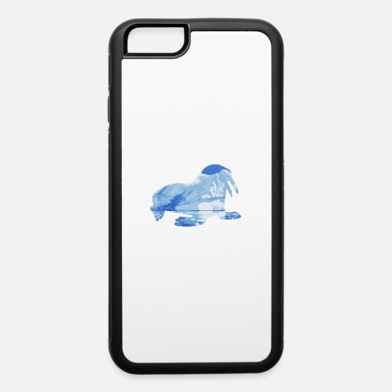 Marine Animal iPhone Cases - Double Exposure Animals Walrus Funny Gift Idea - iPhone 6 Case white/black