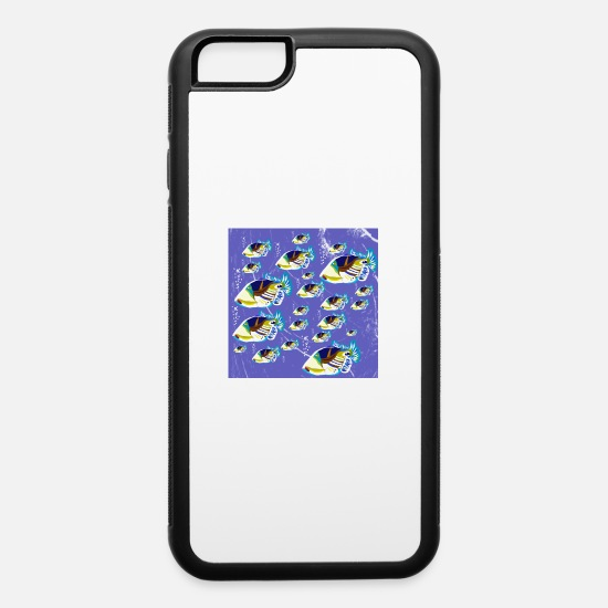 South Seas iPhone Cases - Clownfish fish swarm ocean life motto in the sea - iPhone 6 Case white/black