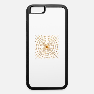 Bright Golden Spider web luster gold in black color - iPhone 6 Case
