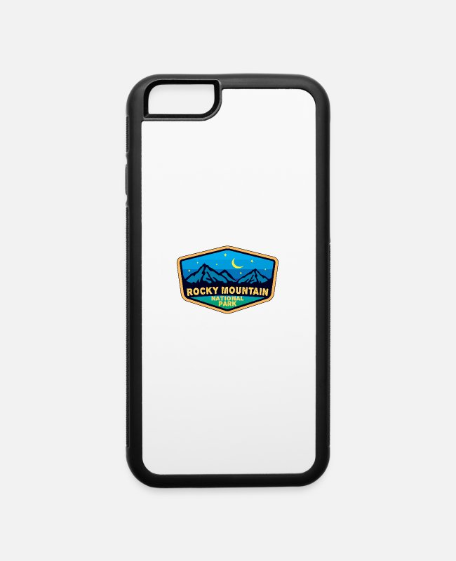 Mountains iPhone Cases - Rocky Mountain National Park Arizona - iPhone 6 Case white/black