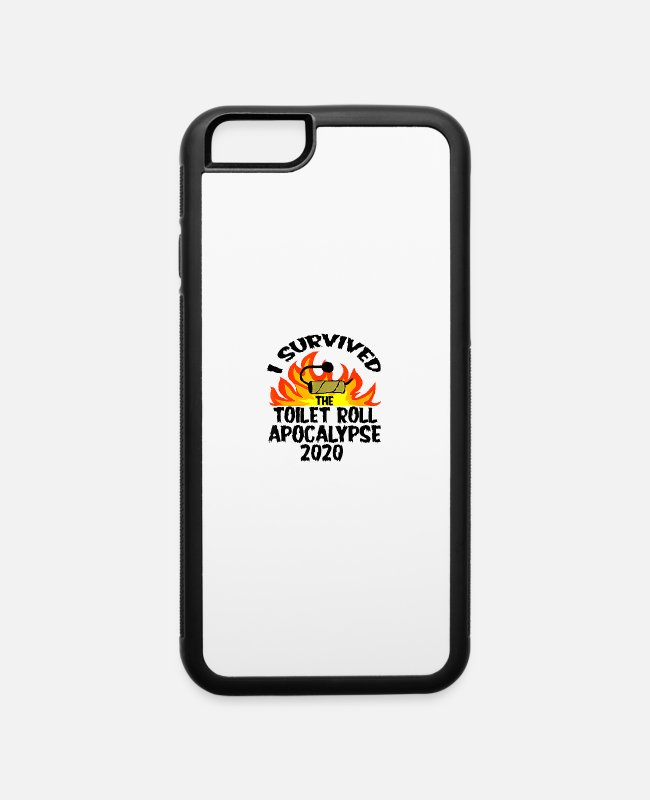 Survived iPhone Cases - I Survived Toilet Roll Apocalypse 2020 - iPhone 6 Case white/black