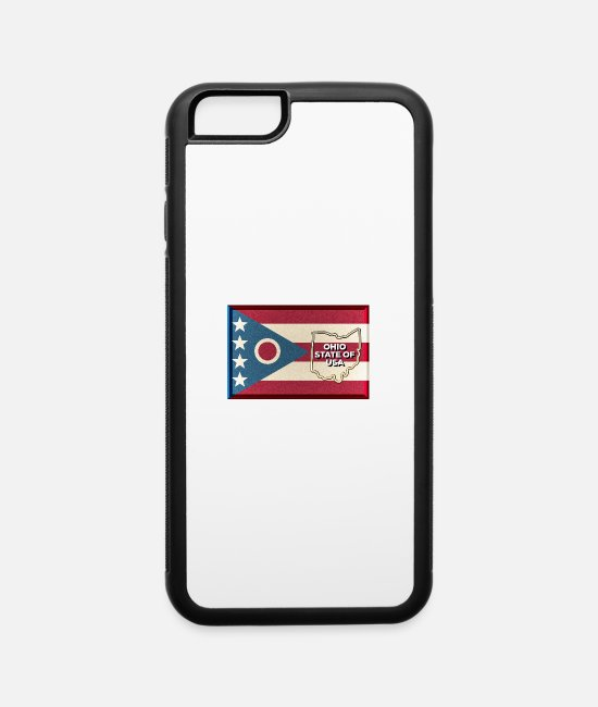 Akron iPhone Cases - States of The USA (Ohio) - iPhone 6 Case white/black