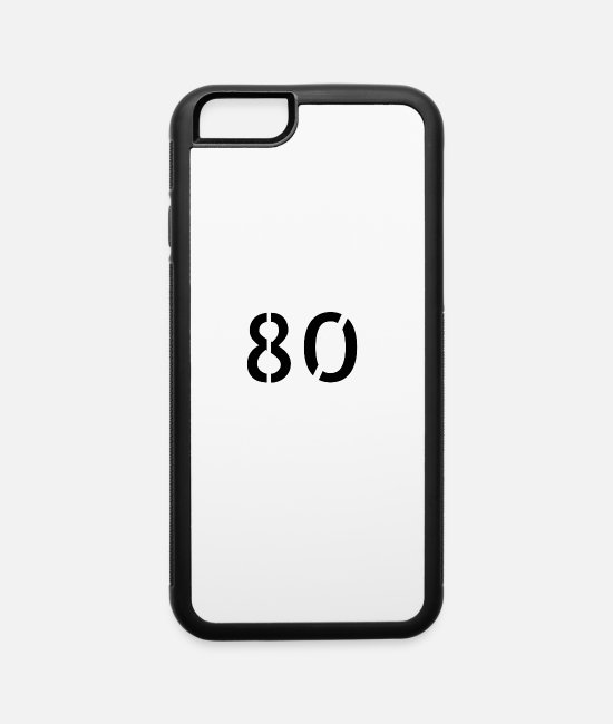 Periodic Table iPhone Cases - Number 80 - iPhone 6 Case white/black