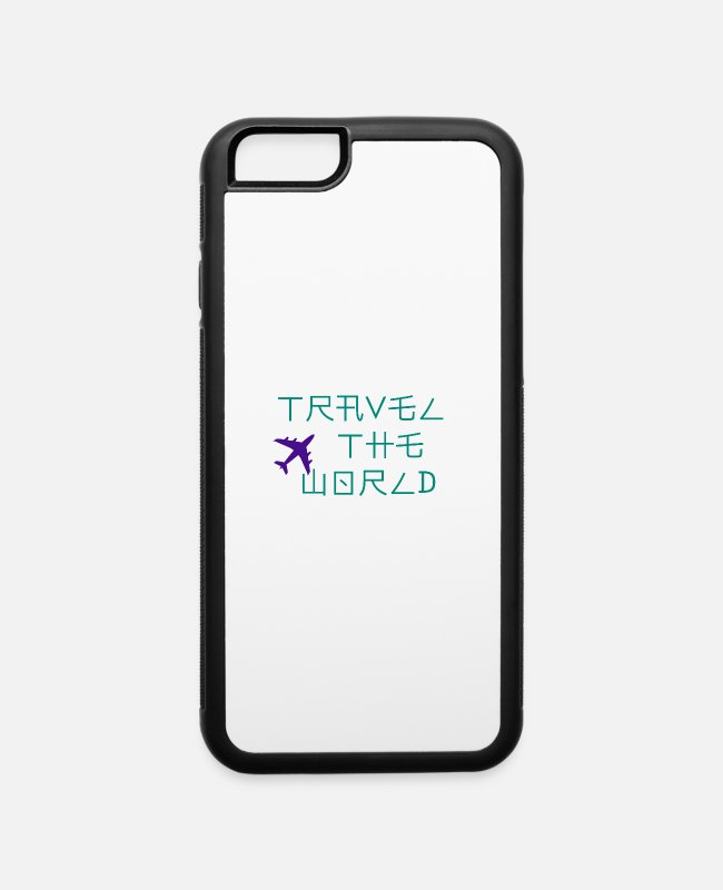 Travel Bug iPhone Cases - Travel the world - iPhone 6 Case white/black