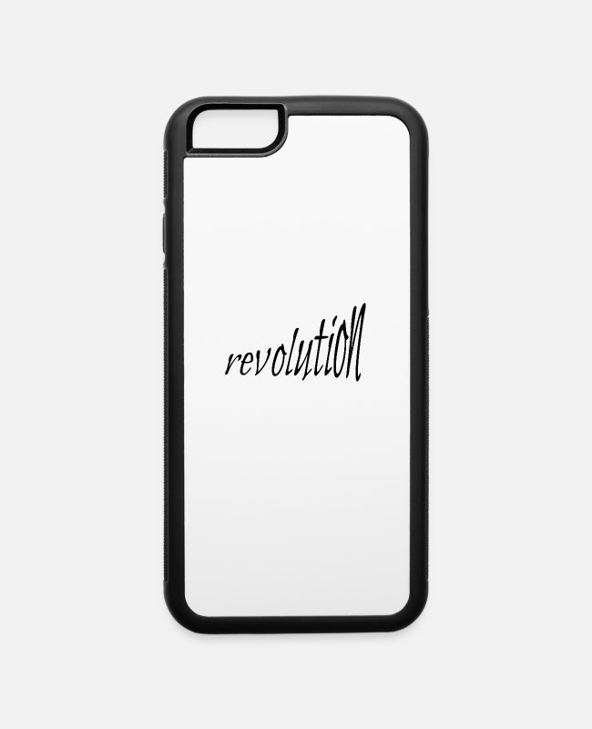 Social iPhone Cases - revolution (size increasing) George Floyd Protest - iPhone 6 Case white/black