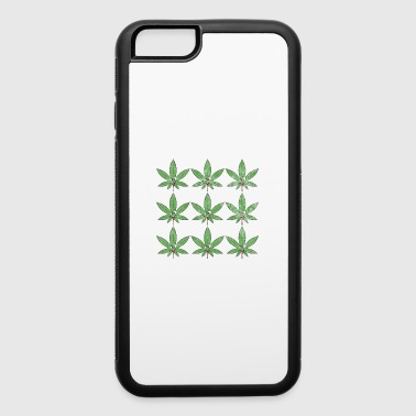 Retro Vintage Weed Marijuana Leaf Cannabis Pot - iPhone 6/6s Rubber Case