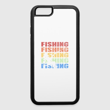 Retro Vintage Style Fishing Fisherman Fish Sports - iPhone 6/6s Rubber Case