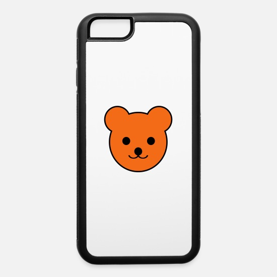 Bear iPhone Cases - teddy bear - iPhone 6 Case white/black