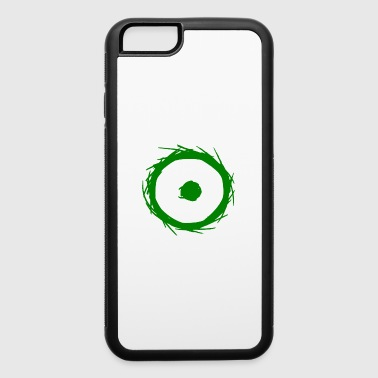 Alchemy symbol sun (gold) green - iPhone 6/6s Rubber Case