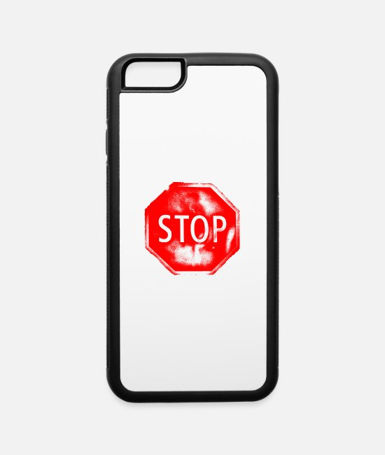 Stop iPhone Cases - Stop - iPhone 6 Case white/black