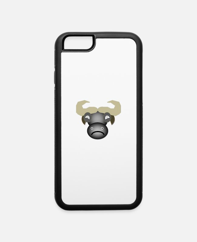 Bison iPhone Cases - cape Buffalo - iPhone 6 Case white/black