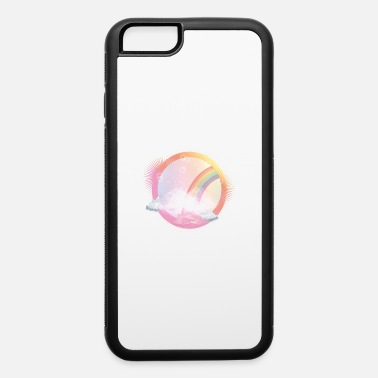 Bloom pink sky with rainbow and delicate clouds - iPhone 6 Case