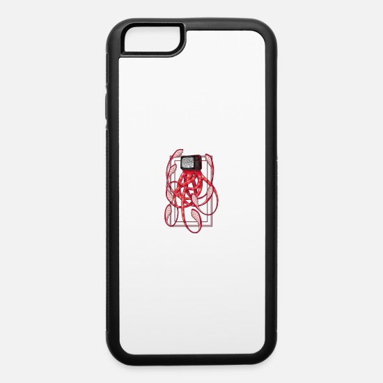 Octopus iPhone Cases - Octopus TV, Octopus television - iPhone 6 Case white/black