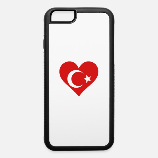 Country iPhone Cases - A Heart For Turkey - iPhone 6 Case white/black