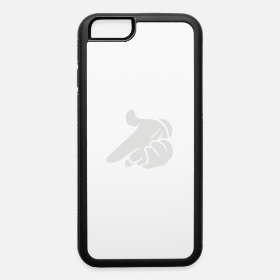 Gun iPhone Cases - mickey hands gun - iPhone 6 Case white/black
