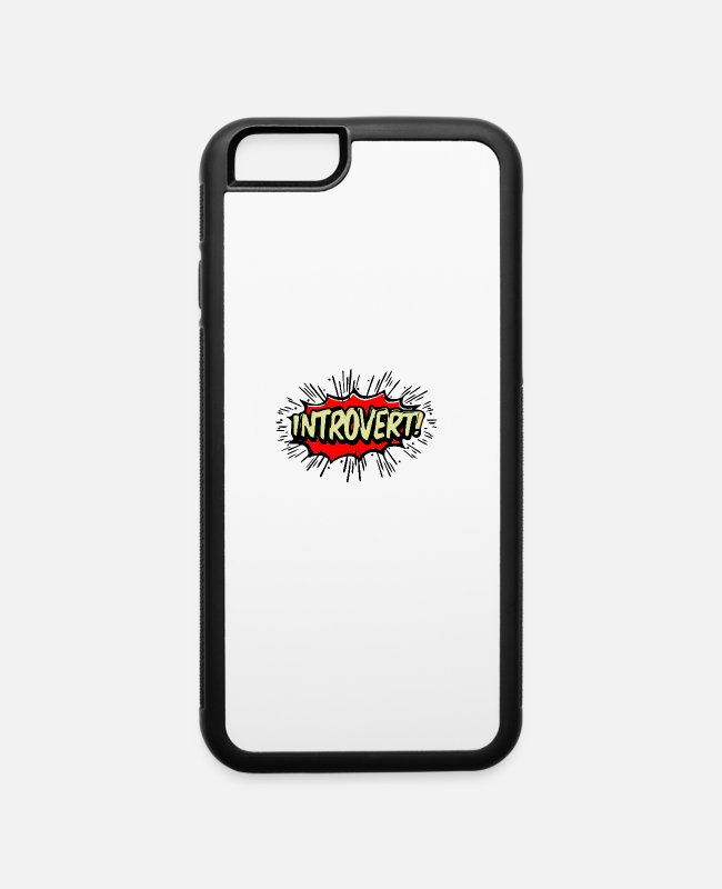 Movie iPhone Cases - Introvert - iPhone 6 Case white/black