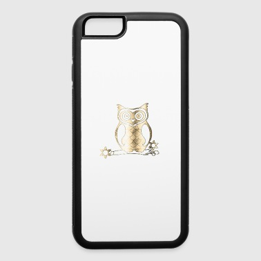 owl gold - iPhone 6/6s Rubber Case