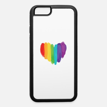 Bisexual LGBTQ Watercolor Love Heart - iPhone 6/6s Rubber Case